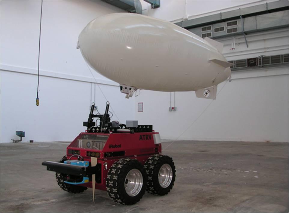 In questa foto vengono mostrati due robot : un robot terrestre denominato Prassi e un robot aereo denominato Zero