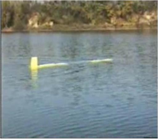 In questa foto si vede SARA durante i test a lago