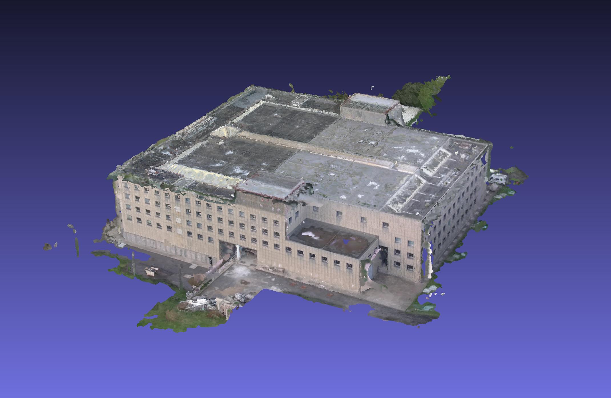 In questa foto si vede una ricostruzione 3D di un edificio